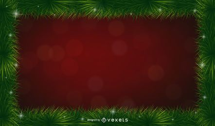 Christmas pine spines frame background