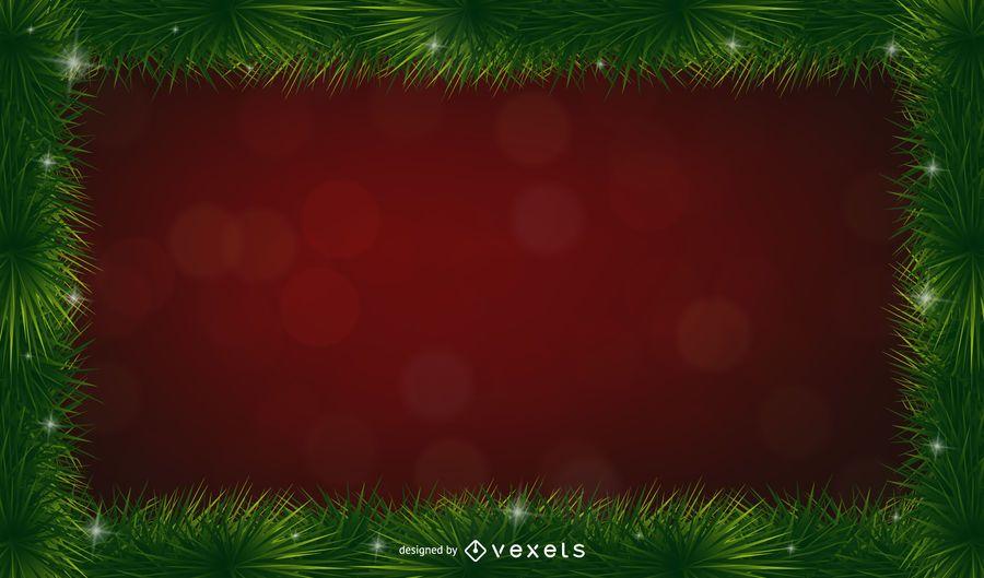 Fundo de quadro de espinhos de pinheiro de Natal