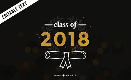 Banner de graduación de la clase de 2018