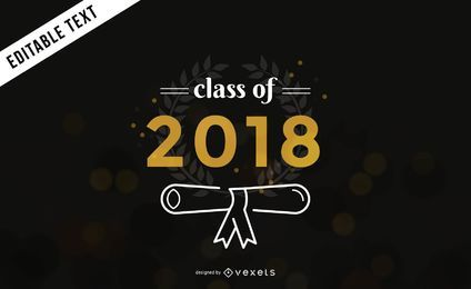 Klasse von 2018 Abschlussfahne