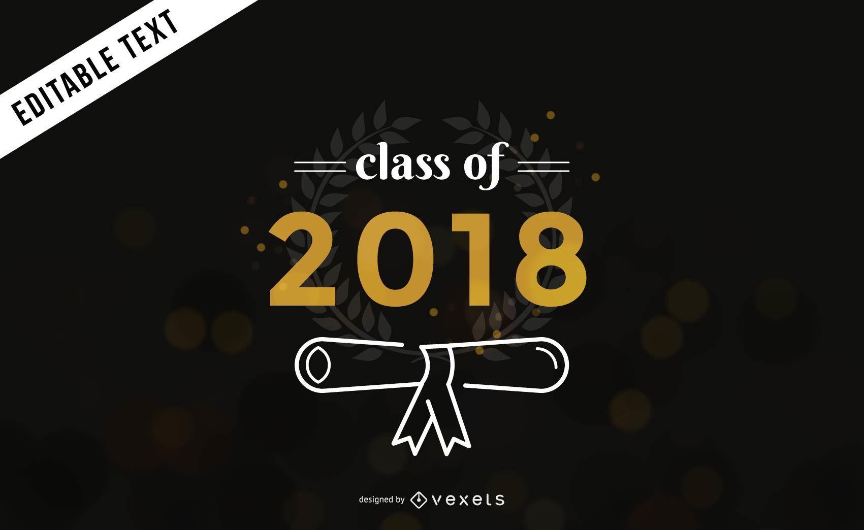Class of 2018 graduation banner