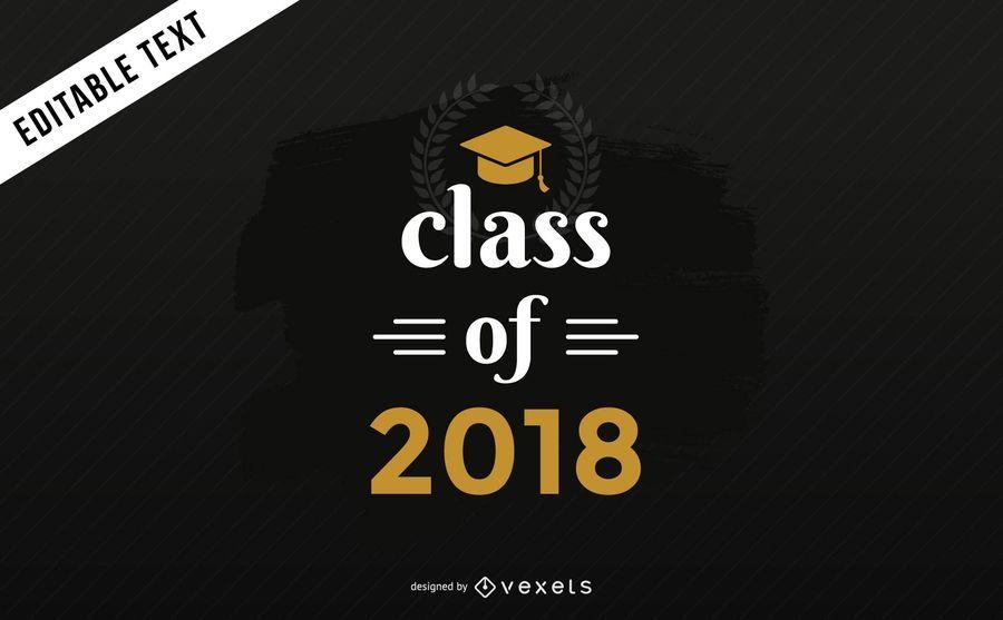 Bandera de la clase de graduación