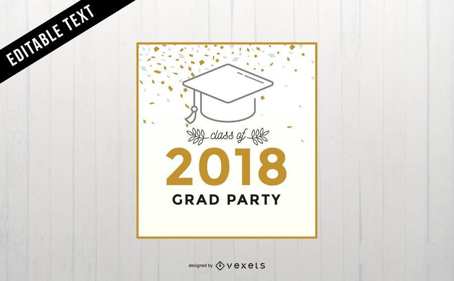 Graduation party banner design