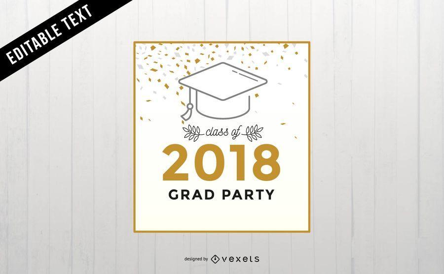Graduation party banner design