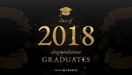 Banner de felicitaciones de graduación