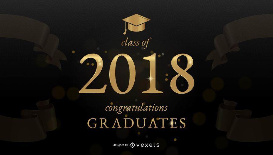 Graduierung Glückwunsch Banner Vektor Download