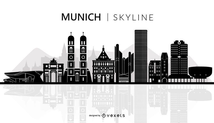 Munich skyline silhouette