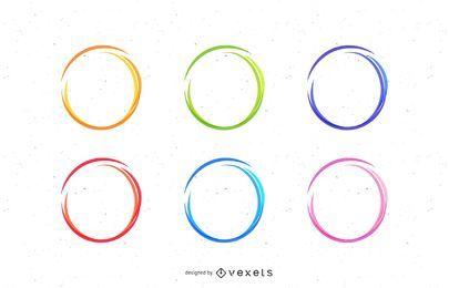 Conjunto de círculos de esboço
