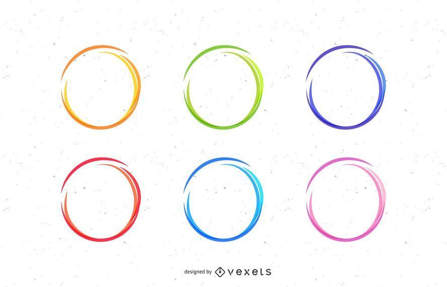 Conjunto de círculos de bosquejo