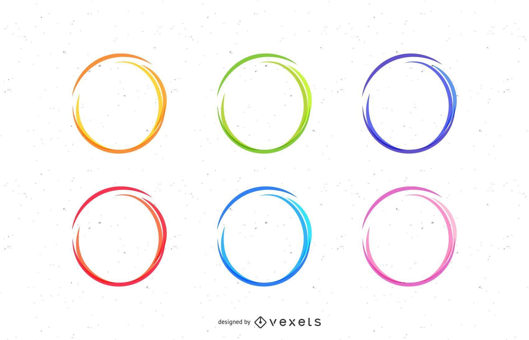 Conjunto de círculos de dibujo