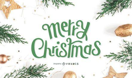 Design de letras de feliz Natal