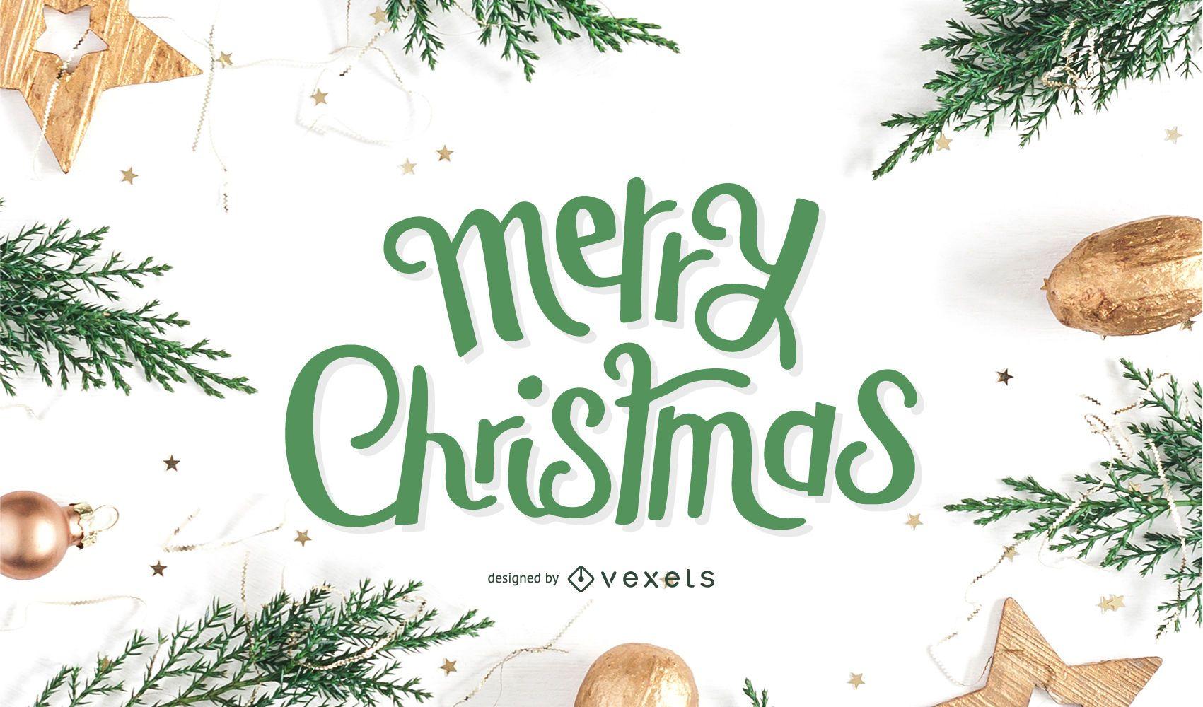 Feliz navidad diseño de letras