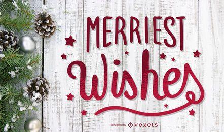 Fröhlichste Wünsche Briefgestaltung