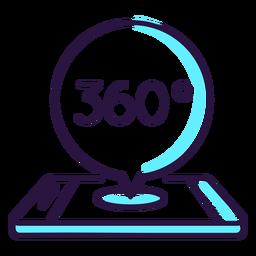 360 degrees augmented reality icon