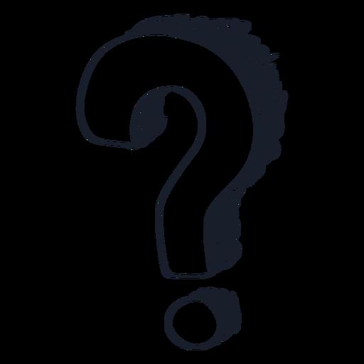 3d question mark drawing Transparent PNG