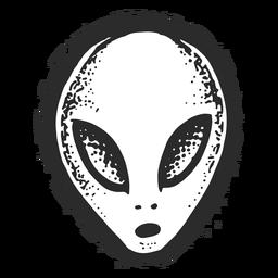 Tatuaje vintage de cara alienígena