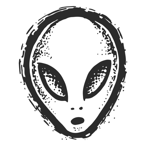 Alien face vintage tattoo Transparent PNG