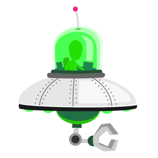 Alien In Ufo Icon Transparent Png Svg Vector File