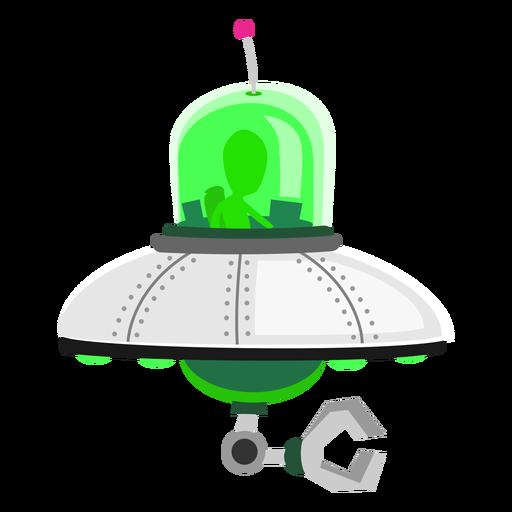 Alien in ufo icon