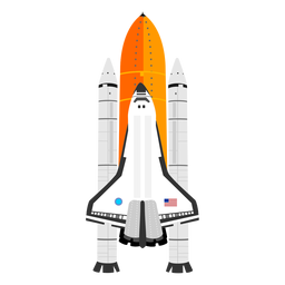 American space shuttle icon