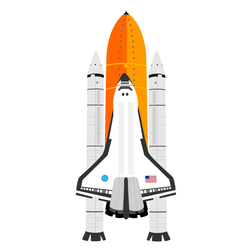 American space shuttle icon Transparent PNG