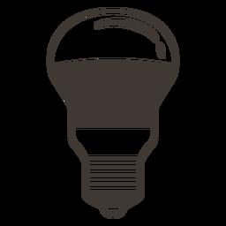 Icono de trazo de bombilla arbitraria