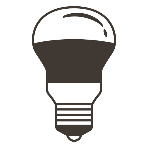 Icono de trazo de bombilla arbitraria Transparent PNG