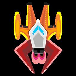 Ícone de nave espacial de arcada
