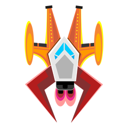 Arcade spaceship icon