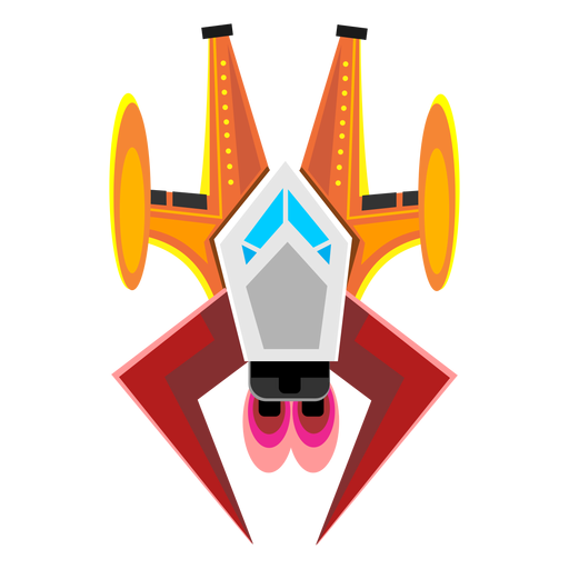 Arcade spaceship icon Transparent PNG
