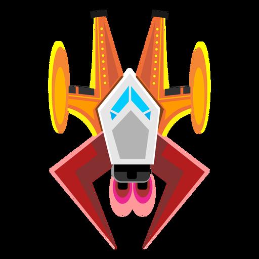 Icono de la nave espacial arcade Transparent PNG