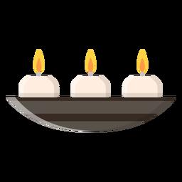 Icono de velas aromáticas