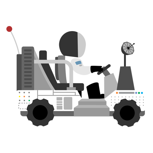 Astronaut driving lunar rover icon Transparent PNG
