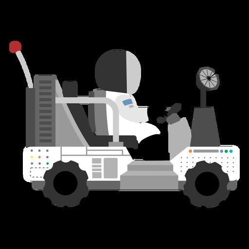 Astronauta dirigindo o ícone do rover lunar Transparent PNG