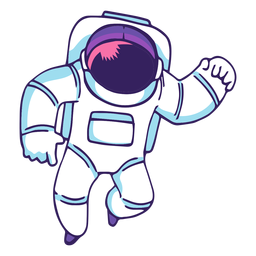 Astronaut fliegende Karikatur
