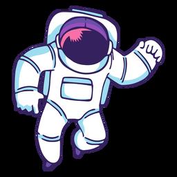 Astronauta volando dibujos animados