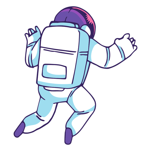 Astronaut rear view cartoon Transparent PNG