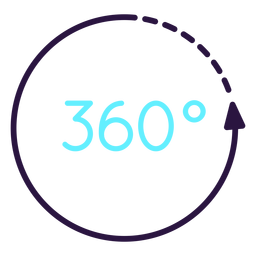 Augmented reality 360 circle icon