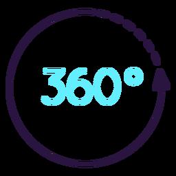 Icono de círculo de realidad aumentada 360