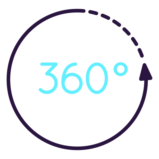Augmented reality 360 circle icon Transparent PNG