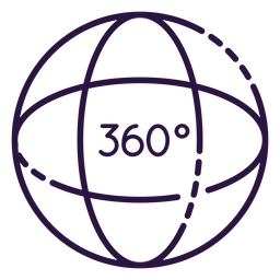 Augmented reality 360 sphere icon
