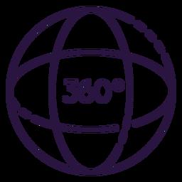 Icono de esfera aumentada de realidad 360