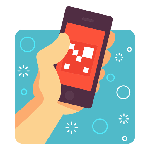 Augmented reality application illustration Transparent PNG