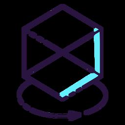 Icono de cubo de realidad aumentada