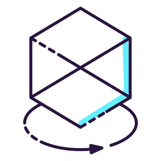 Augmented reality cube icon - Transparent PNG & SVG vector file