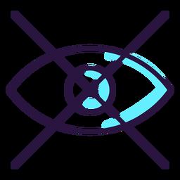 Augmented reality eye icon