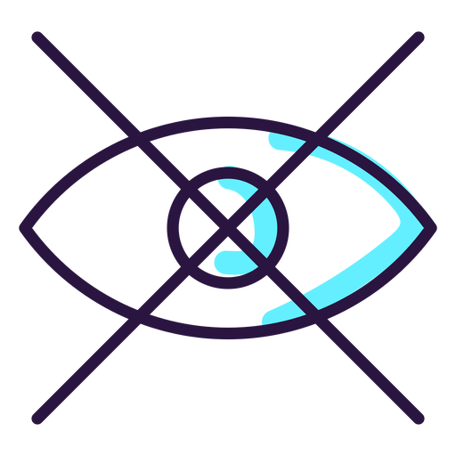 Augmented reality eye icon Transparent PNG