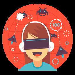 Ilustração de jogos de realidade aumentada