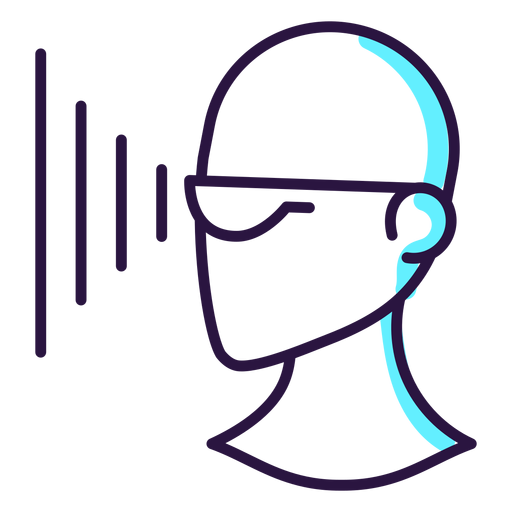 Augmented reality glasses projection icon Transparent PNG