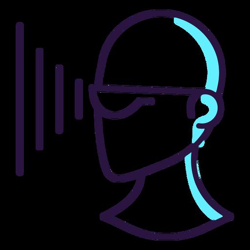 Icono de proyección de gafas de realidad aumentada. Transparent PNG